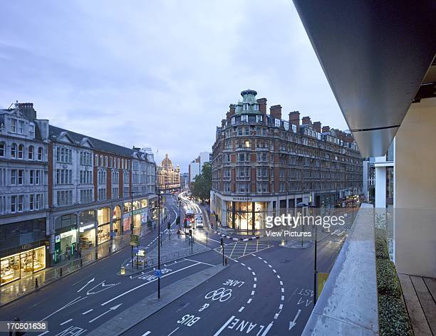 Balcony view at dusk looking towards Harrods One Hyde Park Luxury Flats Europe United Kingdom Rogers Stirk Harbour Partners