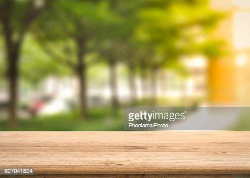 balcony with greenery background : Stock Photo