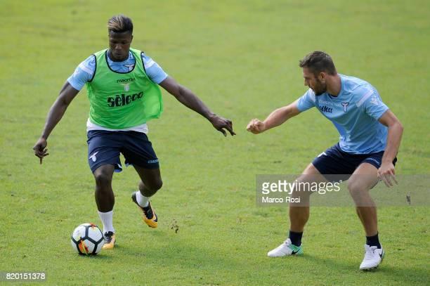 Balde Diao Keita and Stefan De Vrij of SS Lazio during the SS Lazio PreSeason Training Camp on July 21 2017 in Pieve di Cadore Italy