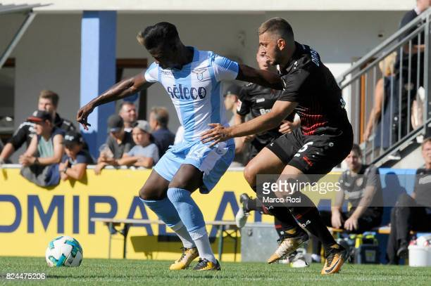 Balde Diao Keita of SS Lazio compete for the ball with Sven Bender of Bayer Leverkusen during the preseason friendly match between SS Lazio and Bayer...