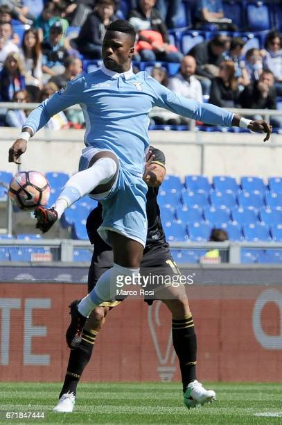 Balde Diao Keita of SS Lazio during the Serie A match between SS Lazio and US Citta di Palermo at Stadio Olimpico on April 23 2017 in Rome Italy