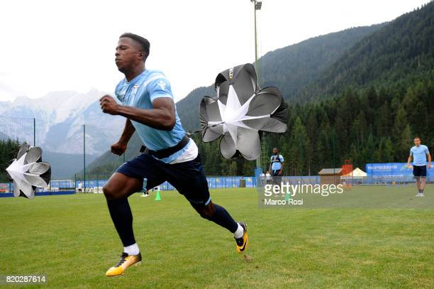 Balde Diao Keita of SS Lazio during the SS Lazio PreSeason Training Camp on July 21 2017 in Pieve di Cadore Italy