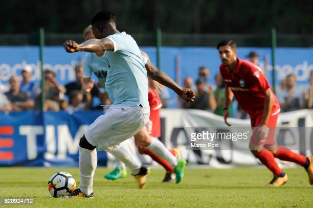 Balde Diao Keita of SS Lazio scores a second goal a penalty during the preseason friendly match between SS Lazio and SPAL on July 22 2017 in Pieve di...