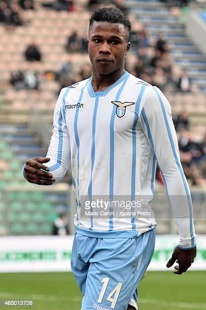 Balde Keita of SS Lazio reacts during the Serie A match between US Sassuolo Calcio and SS Lazio on March 1 2015 in Reggio nell'Emilia Italy
