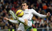 Bale of Real Madrid in actipn during the Spanish La Liga soccer match between Real Madrid and RC Celta at the Santiago Bernabeu stadium in Madrid...