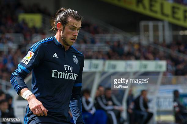Bale of Real Sociedad during the Spanish league football match between Real Sociedad and Real Madrid at the Anoeta Stadium in San Sebastian on April...
