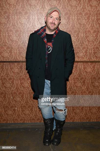 Balenciaga Creative Director Demna Gvasalia attends Vogue's Forces of Fashion Conference at Milk Studios on October 12 2017 in New York City