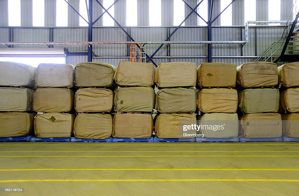 Bales of hops are stacked in the warehouse at Hops Products Australia's operations in Bushy Park, Tasmania, Australia, on Tuesday, Feb. 26, 2013. Australia's Bureau of Statistics is scheduled to release fourth-quarter gross domestic product figures on March 6. Photographer: Carla Gottgens/Bloomberg via Getty Images