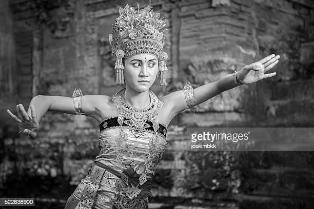 Bali performing dancer in a Hindu temple