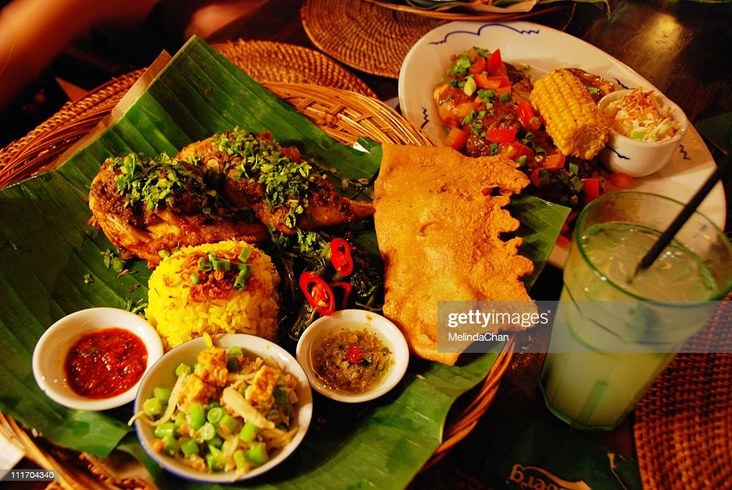 Bali style dinner : Stock Photo