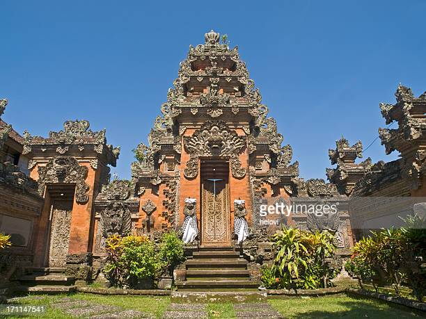 Bali Tempel in Ubud against blue sky