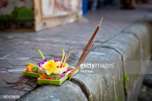 Bali with flowers : Stock Photo