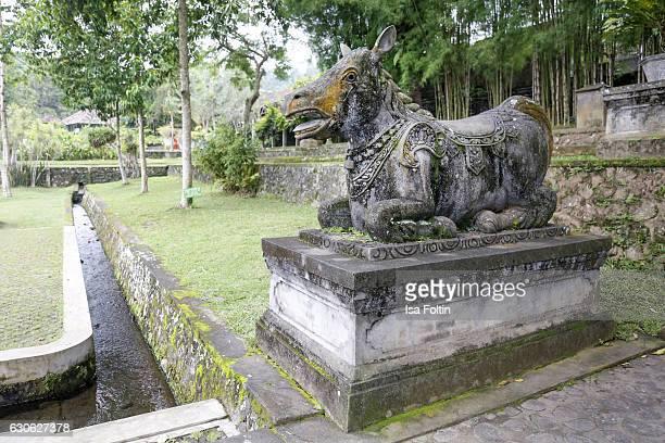 KARANGASEM BALI INDONESIA DECEMBER 23 A balinese animal figure at the Taman Tirta Gangga Water Palace on December 23 2016 in Karangasem Bali Indonesia