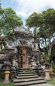 stone sculpture gate by Bali Hindu religion.