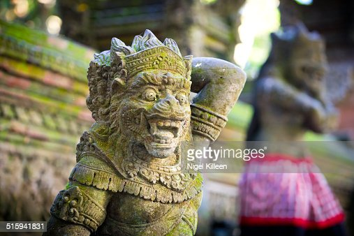 Balinese demon statue, Monkey forest