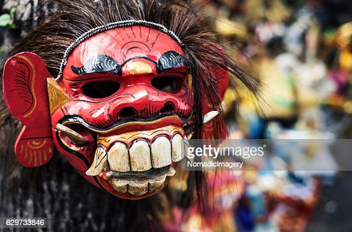 Balinese mask for New Year celebrations