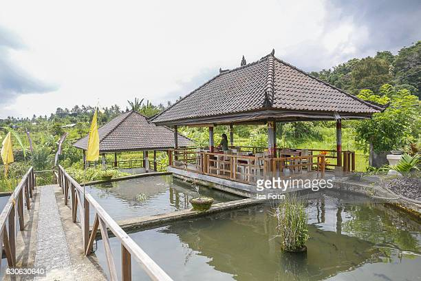 KARANGASEM BALI INDONESIA DECEMBER 23 A balinese restaurant near the Taman Tirta Gangga Water Palace on December 23 2016 in Karangasem Bali Indonesia