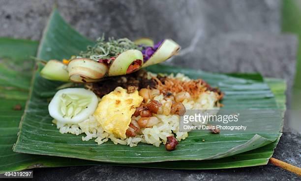 Balinese Temple Offerings, Ubud, Bali