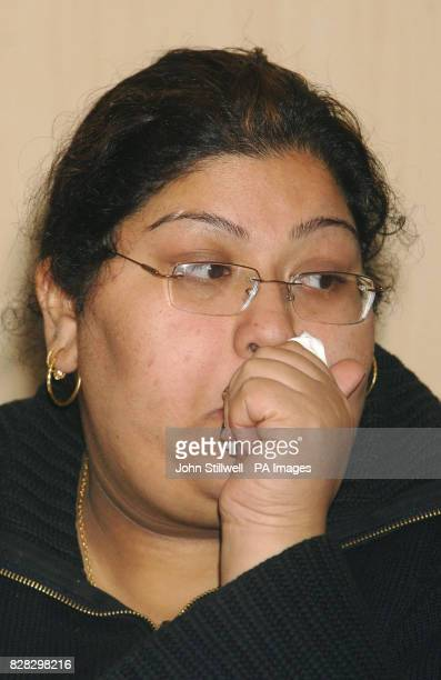 Baljinder Matharu is tearful as she makes an appeal for witnesses to the murder of her father Balbir Matharu at a police press conference in Barking...