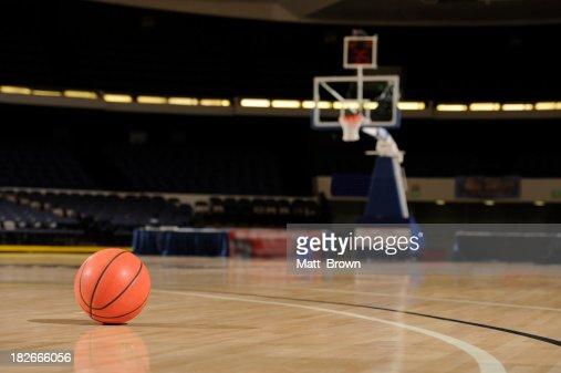 Ball and Basketball Court