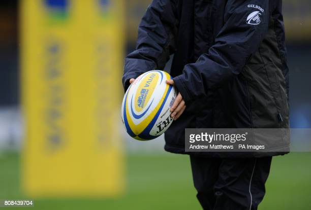 A ball boy holds an Aviva branded Gilbert matchball