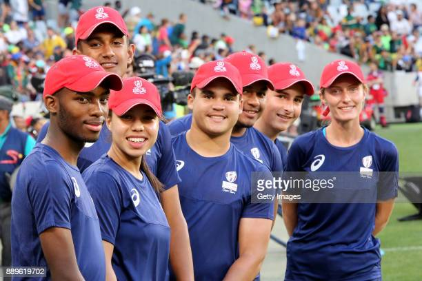 Ball Boys during the 2017 HSBC Cape Town Sevens at Cape Town Stadium on December 10 2017 in Cape Town South Africa