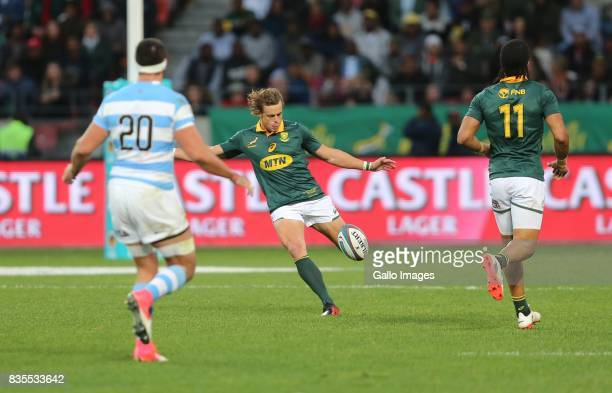 Ball carrier Andries Coetzee of South Africa during the Rugby Championship match between South Africa and Argentina at Nelson Mandela Bay Stadium on...