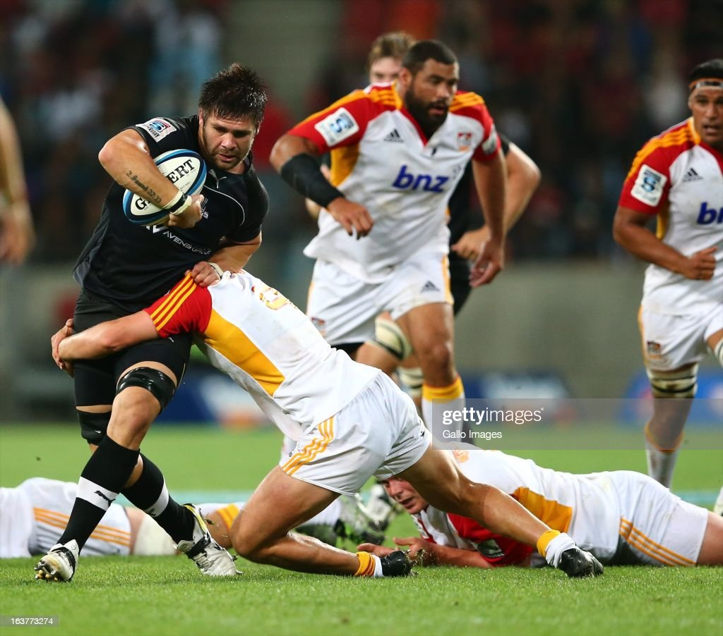 Ball carrier Cornell du Preez of the Southern Kings during the Super Rugby match between Southern Kings and Chiefs from Nelson Mandela Bay Stadium on March 15, 2013 in Port Elizabeth, South Africa