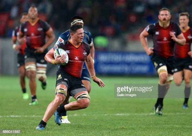 Ball carrier Stefan Willemse of Southern Kings during the Super Rugby match between Southern Kings and Brumbies at Nelson Mandela Bay Stadium on May...
