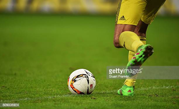 Ball detail during the Bundesliga match between Hamburger SV and 1 FC Koeln at Volksparkstadion on February 7 2016 in Hamburg Germany