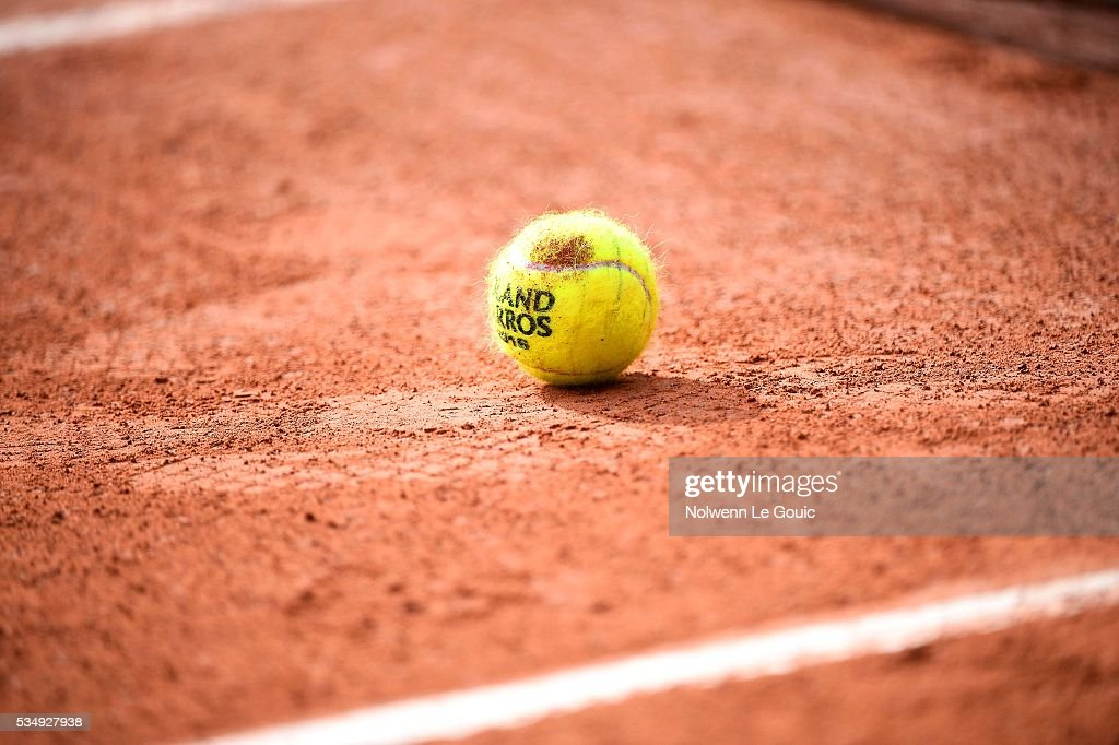 Ball during the Men's Singles third round on day seven of the French Open 2016 on May 28, 2016 in Paris, France.