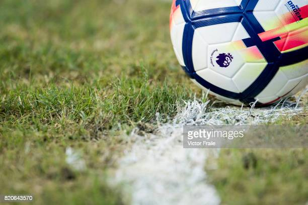A ball during the Premier League Asia Trophy match between West Brom and Crystal Palace at Hong Kong Stadium on July 22 2017 in Hong Kong Hong Kong