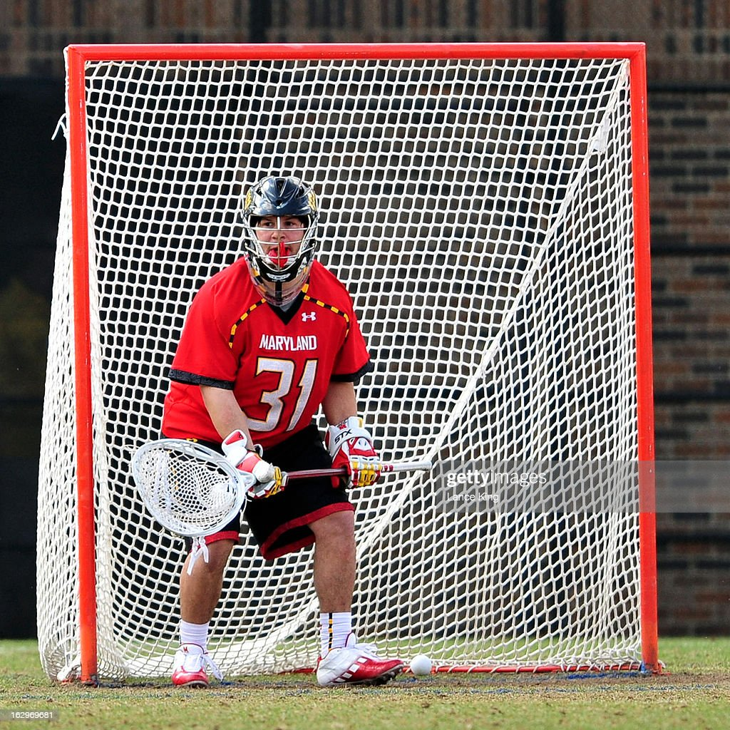 A ball gets past Niko Amato #31 of the Maryland Terrapins during a game against the Duke Blue Devils at Koskinen Stadium on March 2, 2013 in Durham, North Carolina. Maryland defeated Duke 16-7.