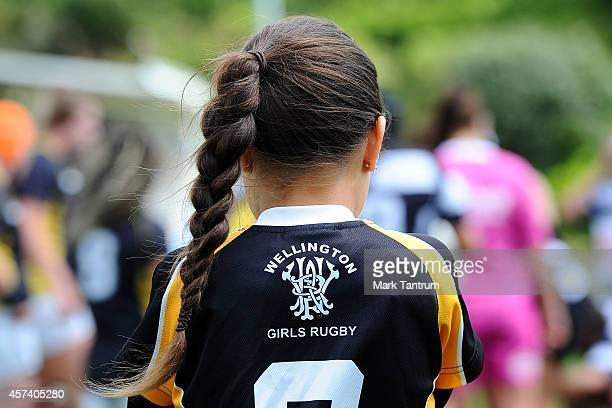 A ball girl watches the game during week 9 of the Women's Provincial Championship match between Wellington and Hawke's Bay at Porirua Park on October...