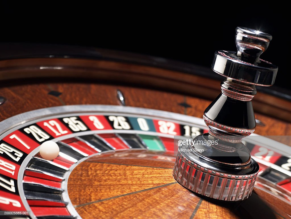 Ball in number seven on roulette wheel