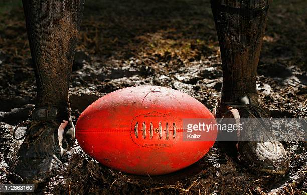 AFL Ball in the Mud