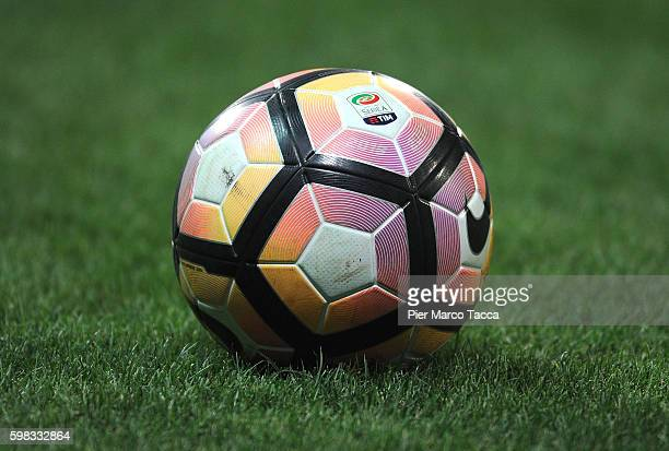 A ball is dislayed during the Serie A match between US Sassuolo and Pescara Calcio at Mapei Stadium Citta' del Tricolore on August 28 2016 in Reggio...