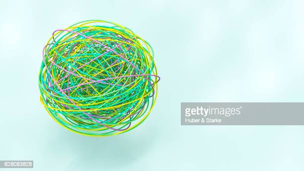 ball of colourful lines