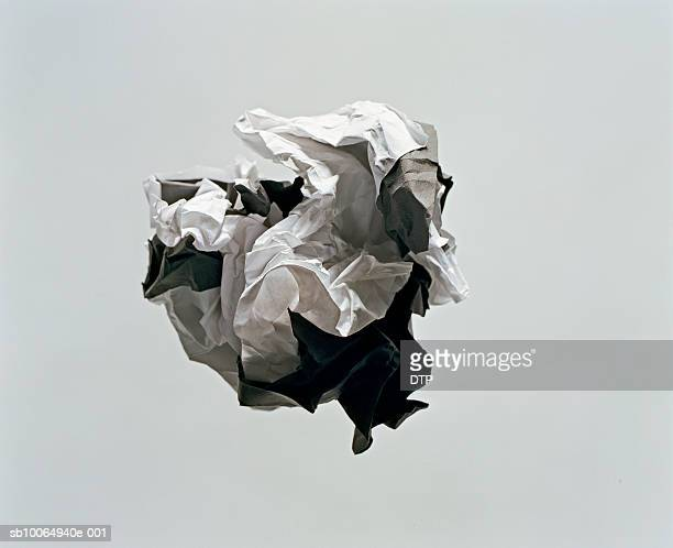 Ball of crumpled paper, studio shot