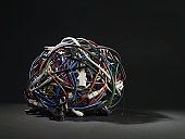Ball of wires and cables