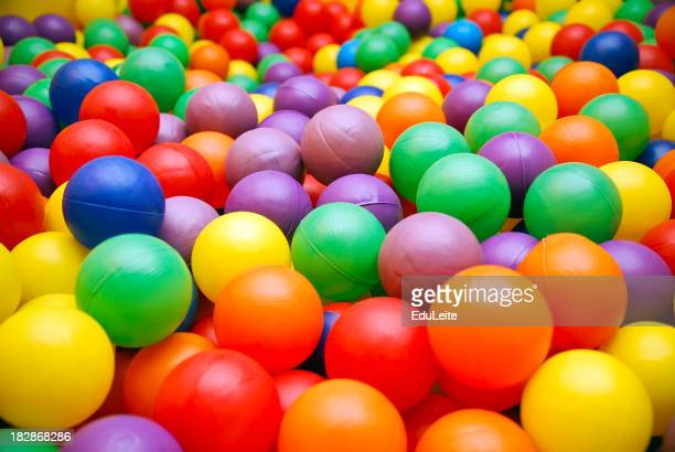 Ball pool close-up