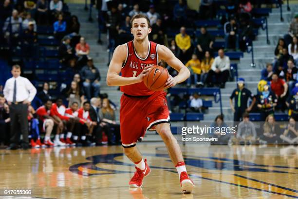 Ball State Cardinals forward Kyle Mallers passes the ball during a regular season basketball game between the Ball State Cardinals and the Toledo...