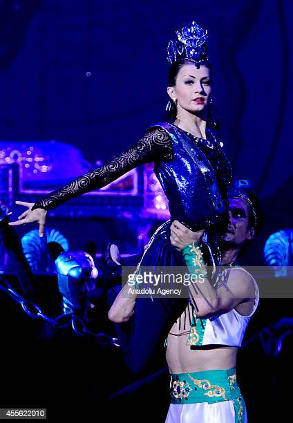Ballerina Alexandra Timofeyeva performs on the press preview of 'The Magic Flute' is carried out that will be staged tomorrow on the premiere of III...