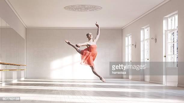 Ballerina at ballet class