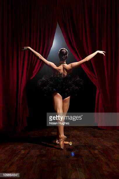 Ballerina coming onto stage