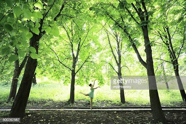 Ballerina Tanzen im Wald