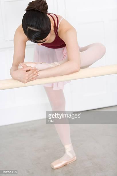 Ballerina doing ballet exercises