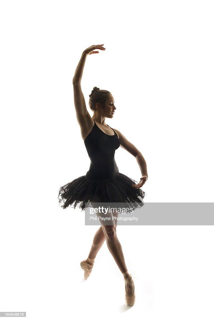 Ballerina In A Tutu Dancing En Pointe : Stock Photo