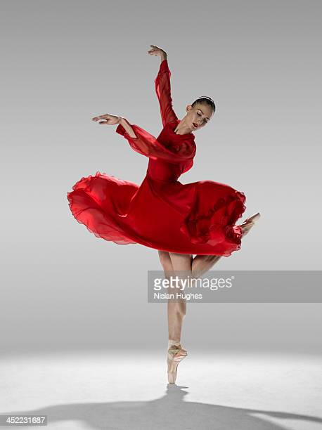 Ballerina in contemporary ballet position