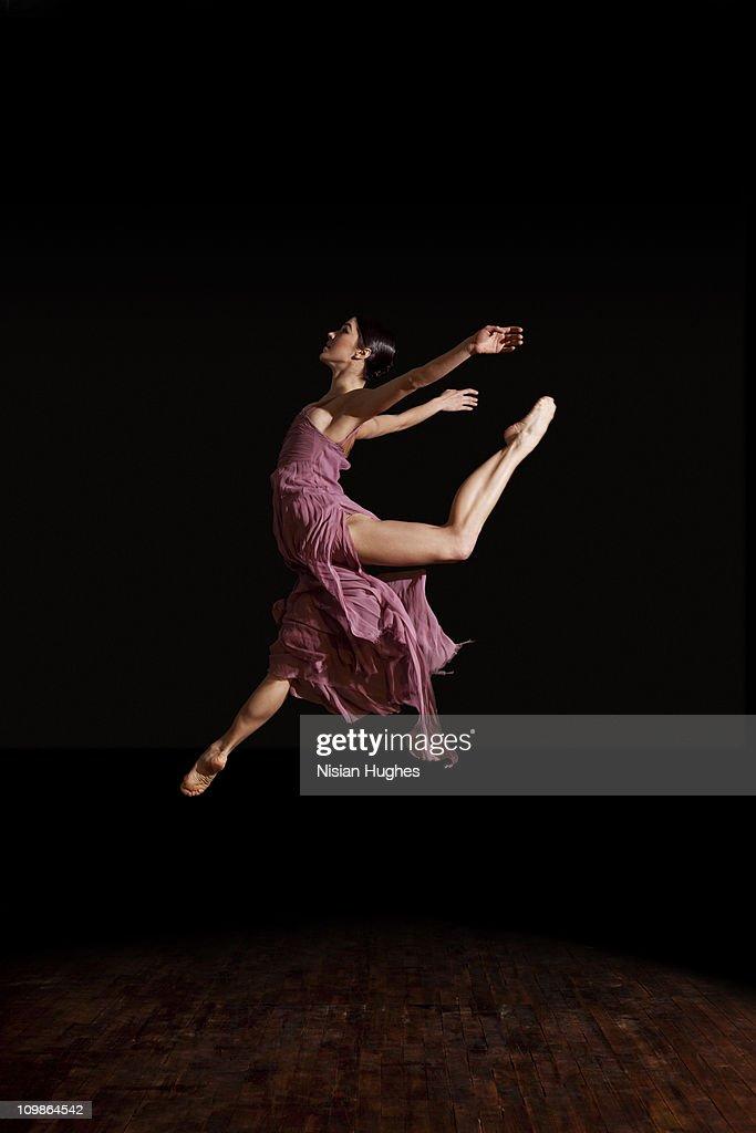 ballerina jumping : Stock Photo